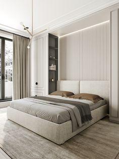 Карьера Bedroom Furniture Design, Home Room Design, Master Bedroom Design, Home Bedroom, Bedroom Wall, Bedroom Ideas, Bedroom Artwork, Bedroom Ceiling, Modern Luxury Bedroom