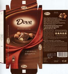 2012 Dove - milk chocolate with nuts, 100 g, Mars LLC, Russia Jar Packaging, Vintage Packaging, Food Packaging Design, Packaging Design Inspiration, Coffee Packaging, Label Design, Box Design, Design Logos, Package Design