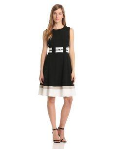 b3c93eff806 Calvin Klein Women s Belted Colorblock Dress
