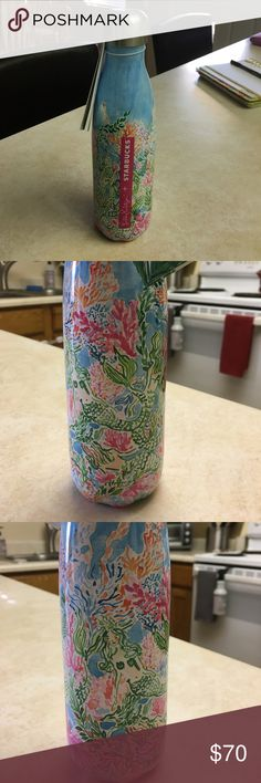 "Lilly Pulitzer Swell bottle Brand new with tags and sticker still attached Lilly pulitzer swell bottle in the ""sirens calling"" mermaid print. Love this and it was so hard to find but I barley use the other one I have already due to my hydro flask obsession  Lilly Pulitzer Accessories"