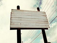 wooden billboard