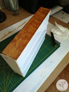 Relookage d'une lightbox avec du bois de cagette DIY