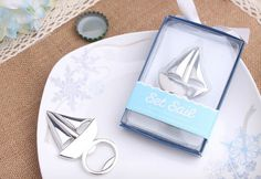 "Besgo® ""Set Sail"" Sailboat Bottle Opener with Gift Package for Party and Wedding Nautical Favors, Nautical Wedding Theme, Beach Wedding Favors, Personalized Favors, Gifts For Wedding Party, Halloween Birthday, Party Guests, Reveal Parties, Festival Party"