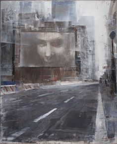 Alexey Alpatov, fulton street, 2009 - mixed media on canvas, 120/90cm