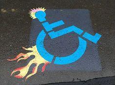 Artistically Enabled: 18 Weird & Creative Handicapped... #weburbanist #arts #street_art