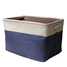 [Toy Storage Ideas] Storage Bin StarVast Cotton & Jute Portable Foldable Organizer Boxes, Big Canvas Storage Basket Bag for Baby & Kids Toys, Clothes, Cars and Books without Cover * Click image for more details. (This is an affiliate link) Shop Storage, Tote Storage, Storage Baskets, Storage Ideas, Clothes Storage, Book Bins, Book Shelves, Shelf, Car Trunk