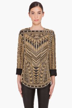 This Balmain top reminds me of the gold design on the Great Gatsby movie posters and album cover; which is to say I love it.