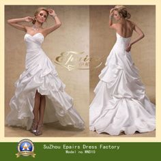 wedding dresses short in front and long in back | » Product » A-line Wedding Dress » Stunning Short Front Long Back ...
