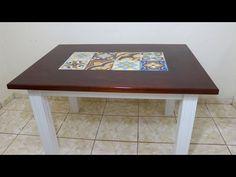 Mesa de jantar com detalhe em ladrilho hidráulico - YouTube