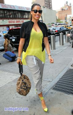 Lala Anthony arrives to watch the Knicks – April 15, 2012