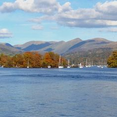 Windermere.  Autumn 2012. Windermere, Cumbria, Lake District, United Kingdom, England, River, Mountains, Durham, Country