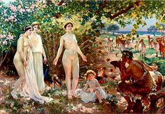 Golden apple in El juicio de Paris by Enrique Simonet, 1904