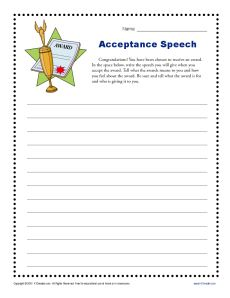 writing an acceptance speech To write an effective nomination speech, the candidate needs to outline what kind of person is right for the office and why he or she has those characteristics.
