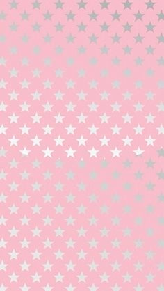 Pink silver stars iphone phone background lock screen wallpaper