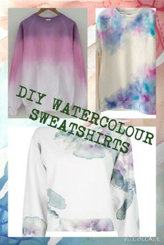 Create Your Own Shirt, Design Your Own Shirt, Diy Sweatshirt, Diy Shirt, Cycling T Shirts, Painted Jeans, Diy Ombre, Fashion Fabric, Diy Fashion