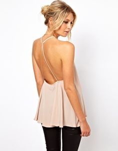I love this ASOS Backless Cami. It's perfectly sexy without flashing everything.