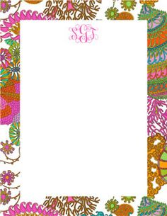 Trina Turk Email Stationery by MeebleMail.  Personalize with your name, monogram and more. http://www.meeblemail.com #stationery #monogram