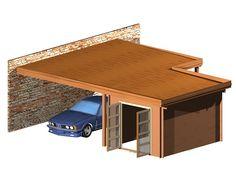 Carport tussen garage en huis