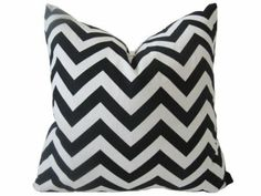 blk and white pillow