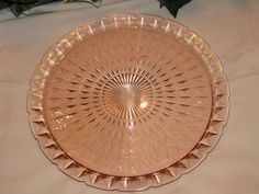 Mouse over image to zoom  Have one to sell? Sell it yourself  PINK DEPRESSION GLASS PLATTER
