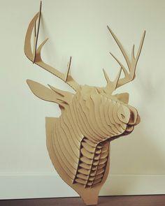 #cardboard #deer #qbi.design #qbi #qbidesign #home #homeinspiration #interiordesign #wall #myhome