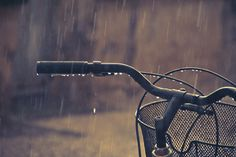 Venturing in the rain - By Choollus #rain #bike #drops