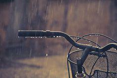 Venturing in the rain - By Choollus #rain #bike #drops