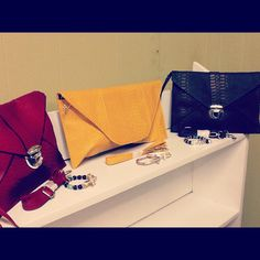 Envelope clutch available in a variety of colors.