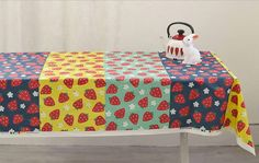Cotton Panel Fabric with Strawberry By The Panel