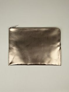 eef2e16191c Rick Owens Metallic Zipped Laptop Case in gold at oki-ni