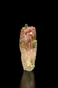 Grossular with Prehnite - Jeffrey Mine, Asbestos, Estrie, Québec, Canada Size: 1.0 × 3.3 × 0.8 cm