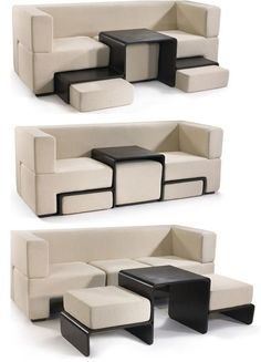 Love this coffee table/couch/chair/transformer thing, perfect for a tiny home…