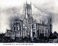 Amazon.com: Cathedral of St. John the Divine, New York City Vintage Photo Print 8 X 10: Everything Else