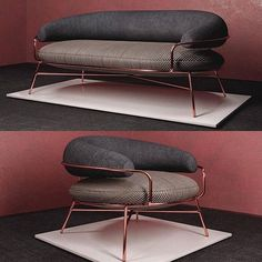 Sofa Design, Furniture Design, Chaise Sofa, Couch, Armchair, Bunker, Design Studio, House Design, Cafe Interior