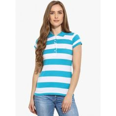 Duke Blue Striped T Shirt