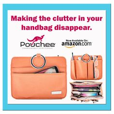 At Pouchee we are all about making the clutter in your handbag disappear!