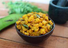 Ethakka/Kaaya/Vazhakka Mezhupuratti (Stir fried Raw Banana) - Mareena's Recipe Collections