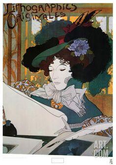 Lithographies Originales Art Print by Georges de Feure at Art.com