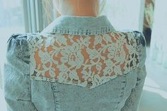 Maybe do this with an old jacket? It's a cute little feminine detail it would look great over a little dress.