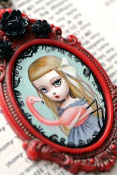 Alice Croquet  - original cameo by Mab Graves by mab graves, via Flickr