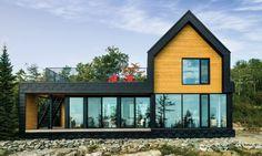Exterior Wood Siding on the MonRocher chalet Siding Cost, Stucco Siding, Fiber Cement Siding, Cedar Siding, Cedar Shingles, Shake Siding, Exterior Cladding, Cladding Panels, Exterior Paint