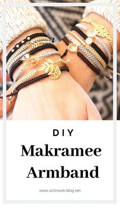 Makramee Armbänder knüpfen – Einfache Anleitung Knot your own macrame bracelet with this simple step by step guide. The popular knot technique can be found in Macrame Bracelet Diy, Bracelet Knots, Braided Bracelets, Bracelets Macramé, Diy Jewelry Unique, Diy Jewelry To Sell, Diy Jewelry Making, Diy Jewelry Instructions, Diy Jewelry Tutorials