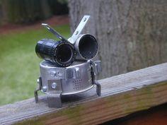 LITTLE DOODLE BUG  Found Object Robot Sculpture Assemblage. $49.00, via Etsy.