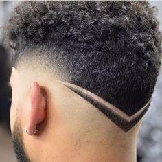 Corte de pelo v para hombre