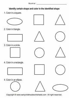 Shapes & Colors Printable Worksheet School is Cool