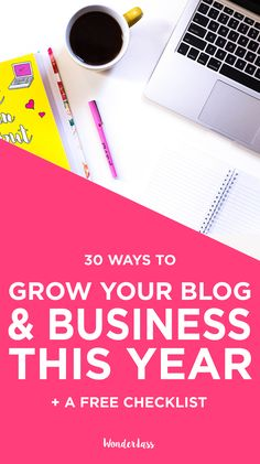 Click through to find out 30 actionable ways to grow your blog and business this year! Time to kick some butt!!!