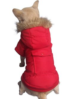 FREEDOGS Warm Dog Puppy Winter Padded Coat Pet Jacket Hoodie Clothes-black-XS: Amazon.co.uk: Pet Supplies