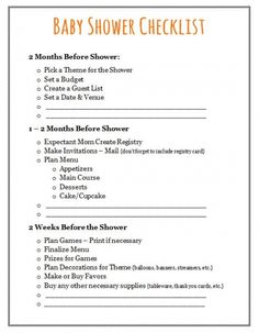 Free Printable Baby Shower Checklist    Paste The Link Below