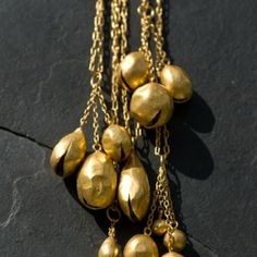 Pippa Small Gold Bell Necklaces