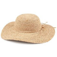 sur la tete Raffia Swinger Hat - Natural - Wholesale Pack